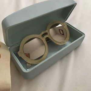 Karen Walker gold sparkle mirrored sunglasses